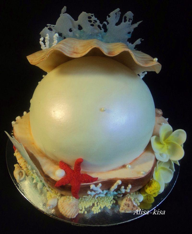 Торт на заказ на жемчужную свадьбу фото