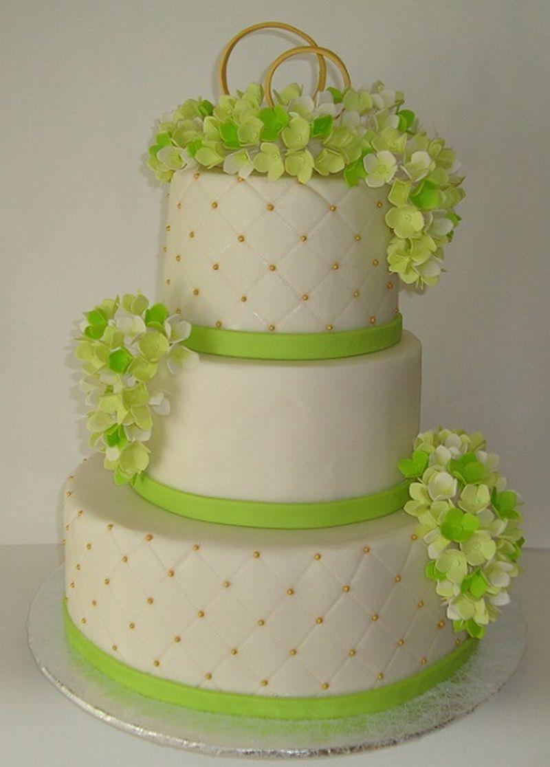 Свадебный зелёный торт