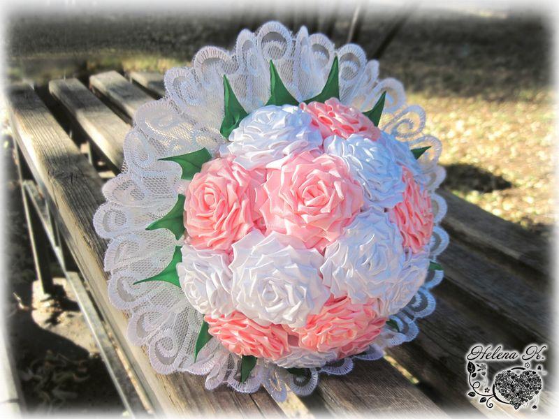 Свадебный букет роз мастер класс