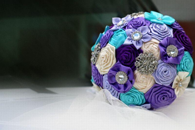 Букет невесте без цветов своими руками фото