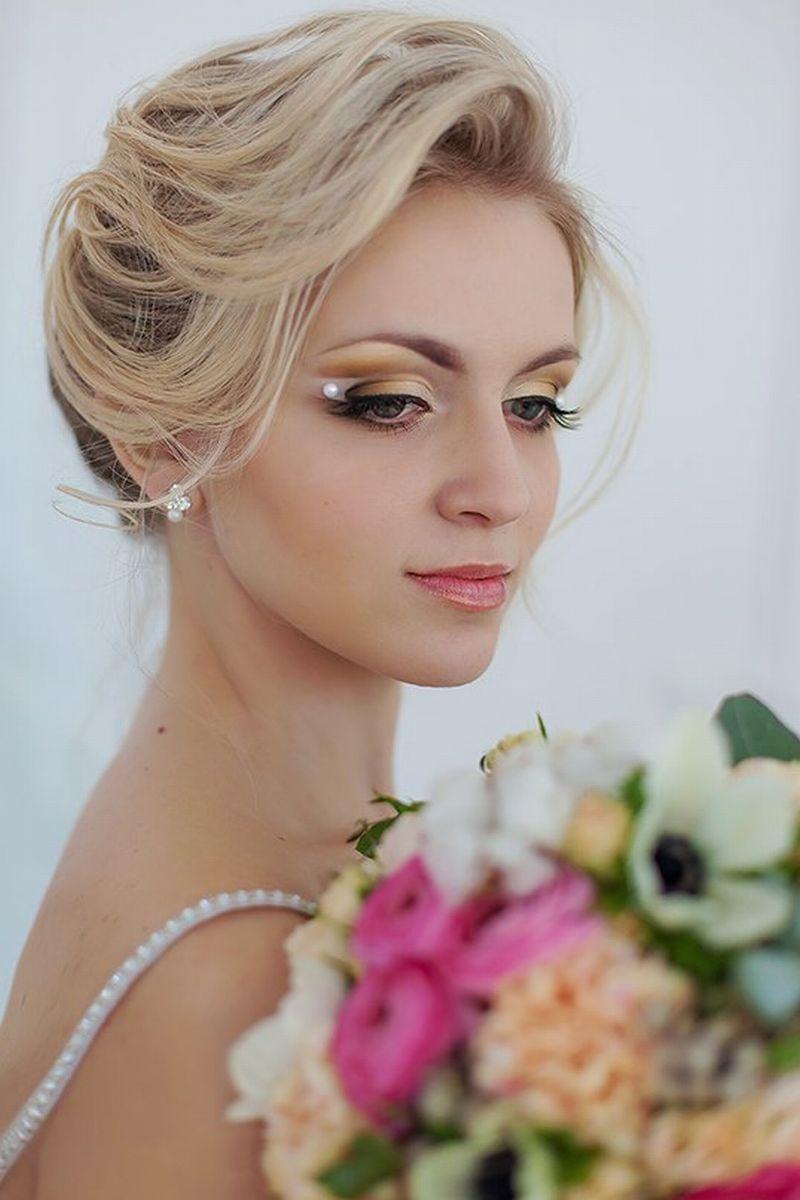 свадебная прическа и макияж москва