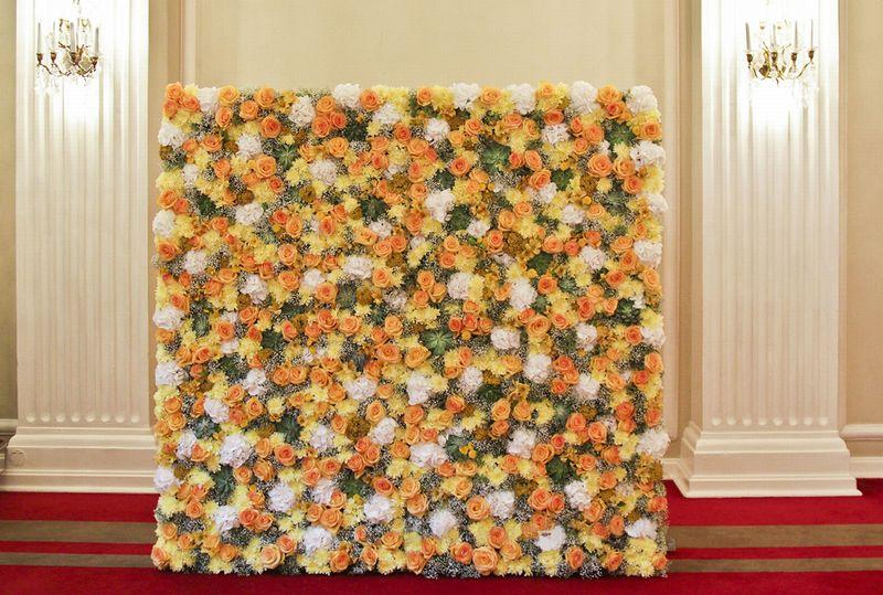 Как сделать стену из цветов на свадьбу своими руками 91