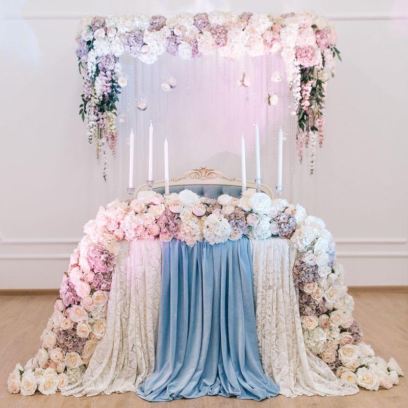 Свадебное оформление бумажными цветами (50 фото) 37