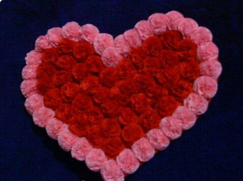 Сердце из салфеток своими руками фото