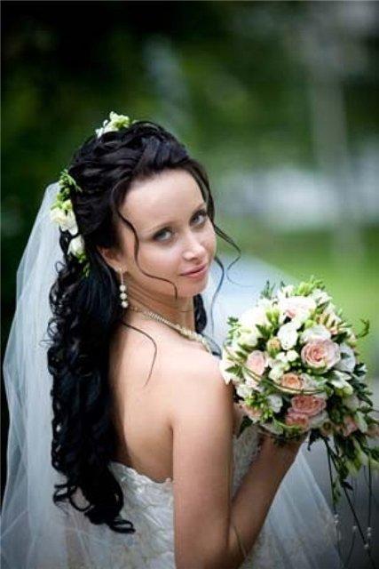 свадебные прически на длинные волосы воронеж