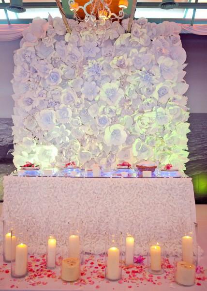 Как прикрепить бумажные цветы к стене