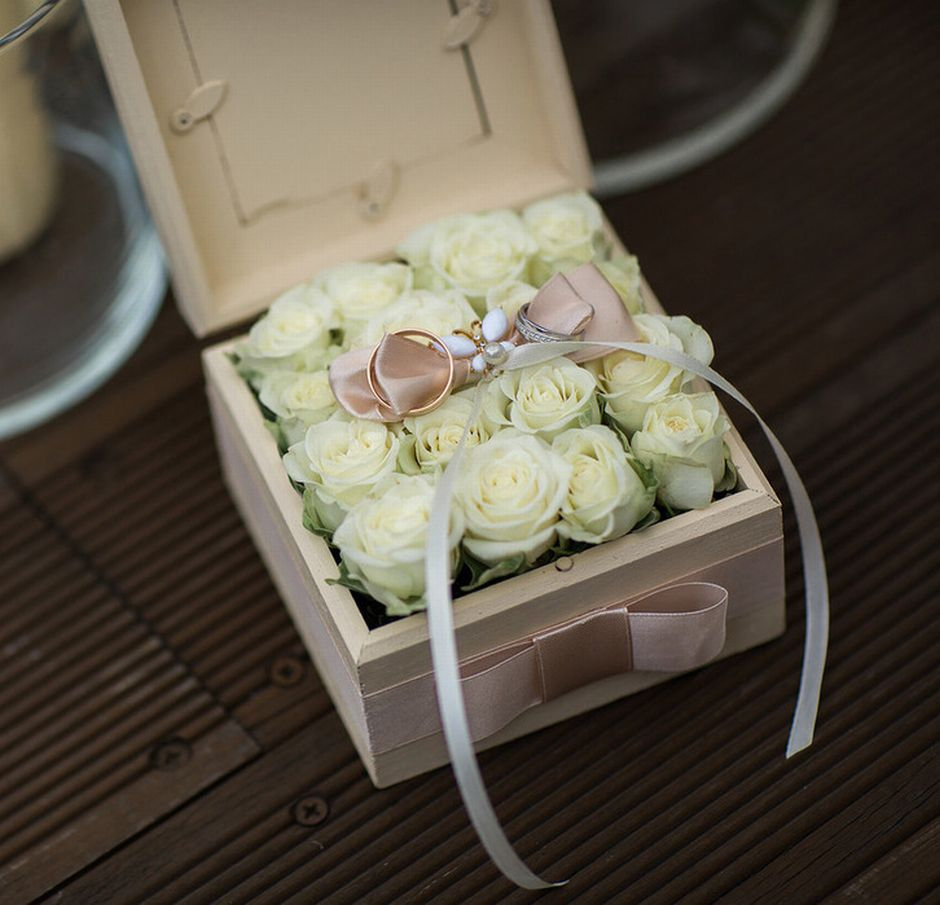 Коробочка для колец с цветами